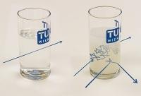 Die Wegstrecke des Lichts im Milchglas