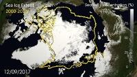 Arktisches Meereis erneut stark abgeschmolzen