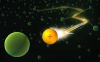 Physiker lotsen einzelnes Ion durch ein Bose-Einstein-Kondensat