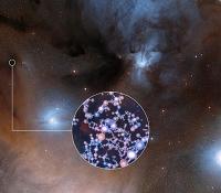 ALMA entdeckt Bausteine für Leben um jungen sonnenähnlichen Stern
