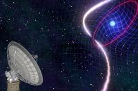 Ein schnell rotierender Weißer Zwerg verwirbelt die Raumzeit in einem kosmischen Tanz