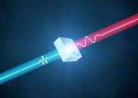 Moleküle brillant beleuchtet